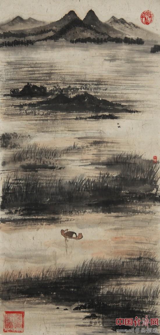 何�F熹(Anika He)绘画《渔舟唱晚》