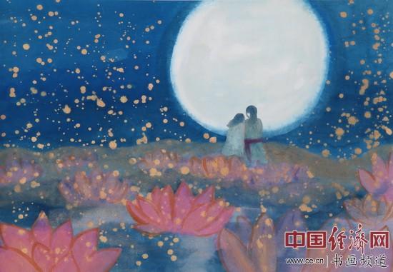 何�F熹(Anika He)七夕题材绘画