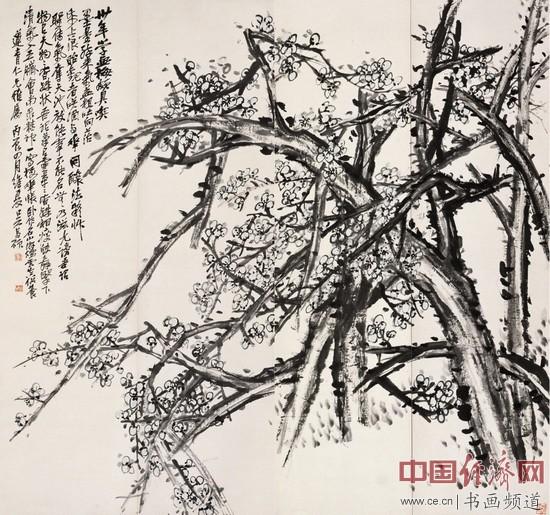 吴昌硕《绿梅》,创作于1916年