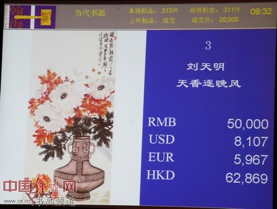 刘天明国画5万元成交于翰海四季第85期拍卖会 李玉生摄