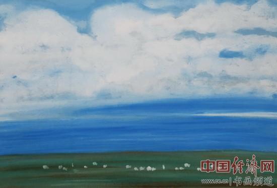 何�F熹(Anika He)绘画作品《草原牧歌图》