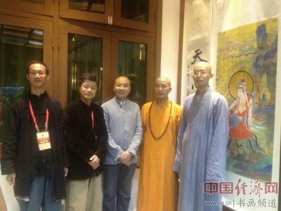 """""""香光庄严——蔡志忠、李政恩书画作品展""""现场"""