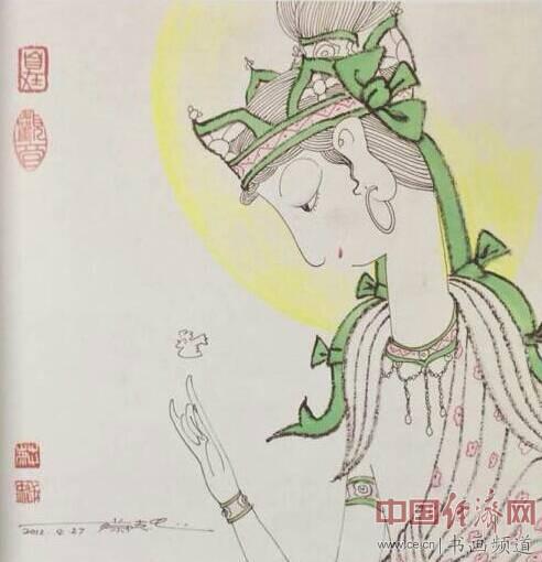 台湾漫画家蔡志忠国画