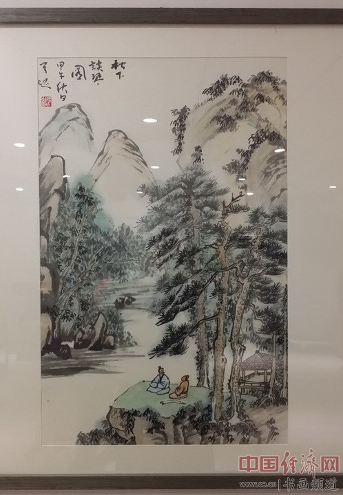 著名书法家弓超的国画作品 中国经济网记者李冬阳摄