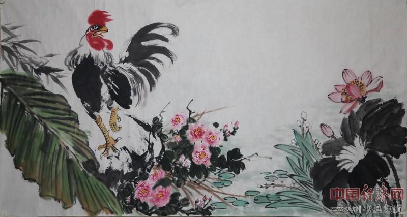 """""""鸡神鹰圣""""国画大家马满昌国画作品"""