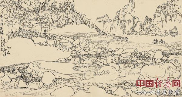 李光烈绘画《1991荒山的苏醒》