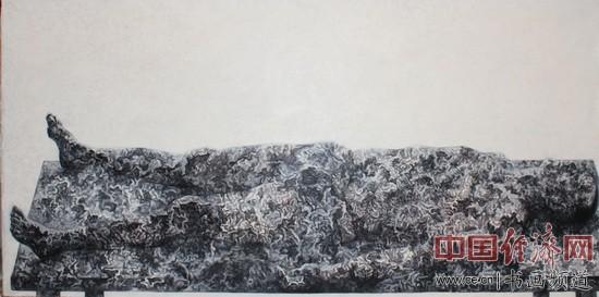 赵志旺油画《迹30》