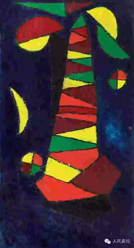 徐冬冬《天穹》系列组画第二号――静 丙烯纸本  180cm×97cm_2003