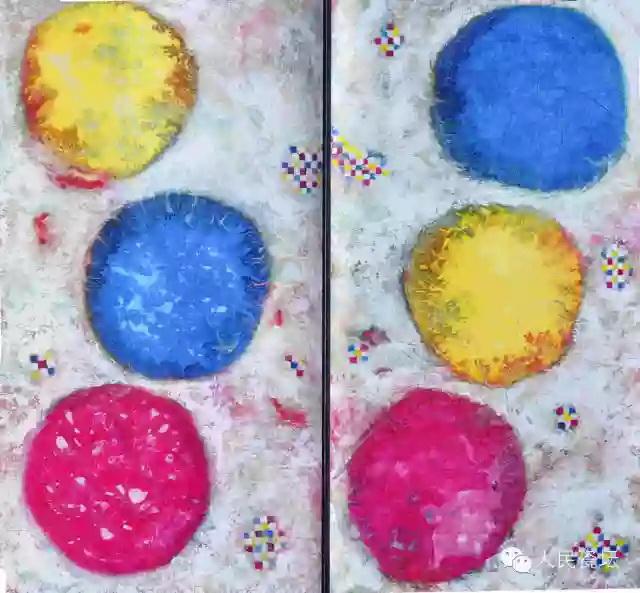 徐冬冬《太极》系列组画――迷失的快乐第3号 丙烯纸本 2008