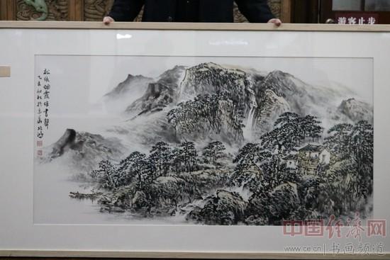 军旅艺术家李项鸿作品《松依烟霞伴书声》被上海市档案馆永久收藏