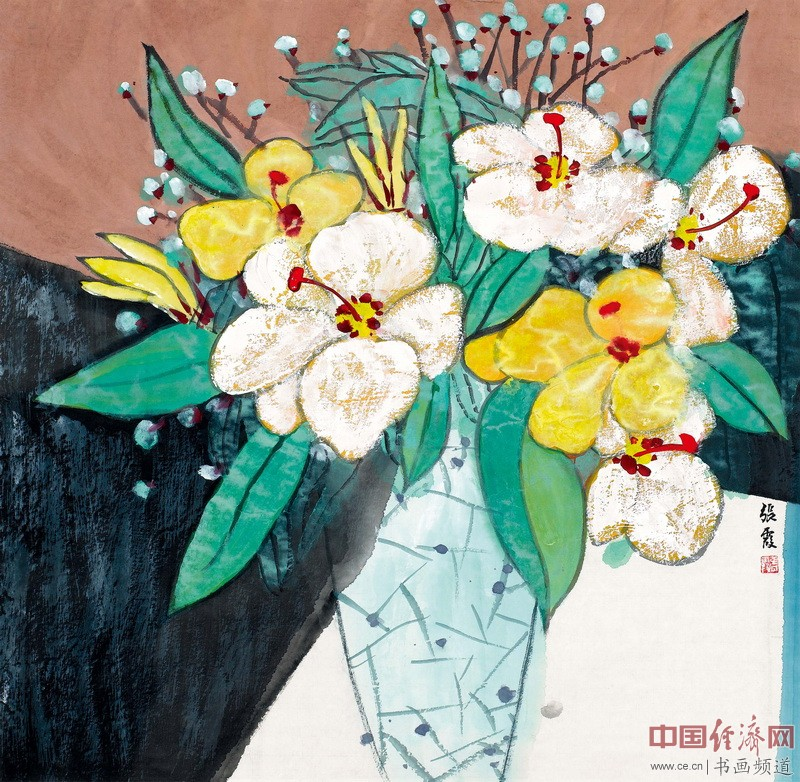 张宸雪现代彩墨绘画