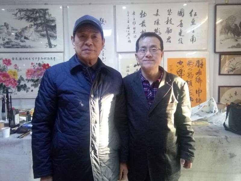 赵亚龙和全国人大机关书协副主席李峰岗在北京