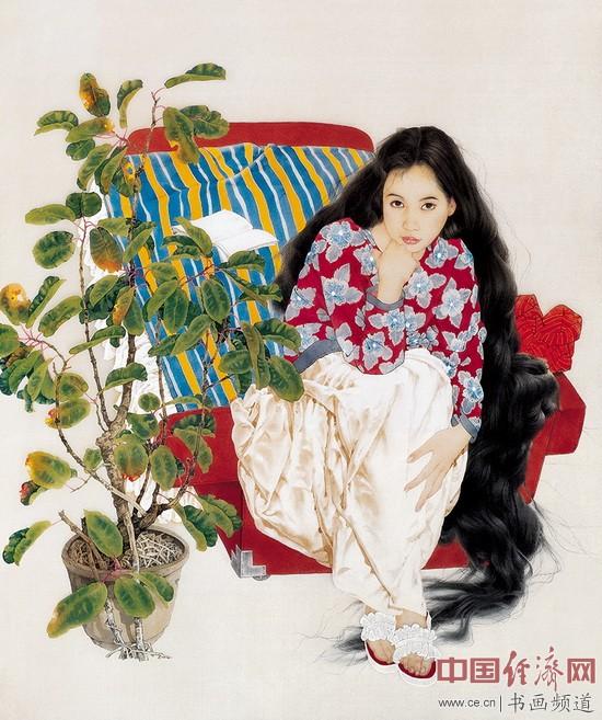王根生绘画《寂》 90×70cm