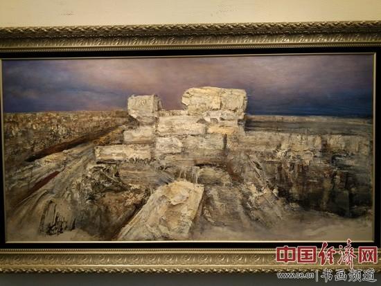 现场展出的丁方艺术作品 中国经济网记者张雪摄