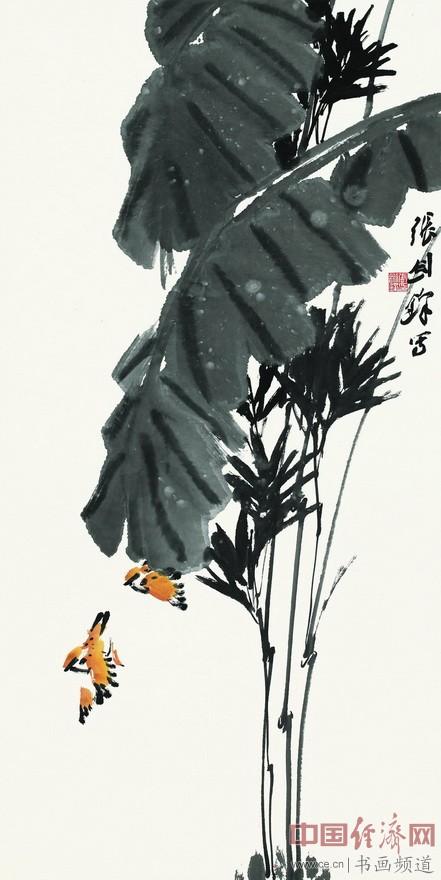 张剑锋《惠风和畅》136cmX68cm  纸本设色  2015年
