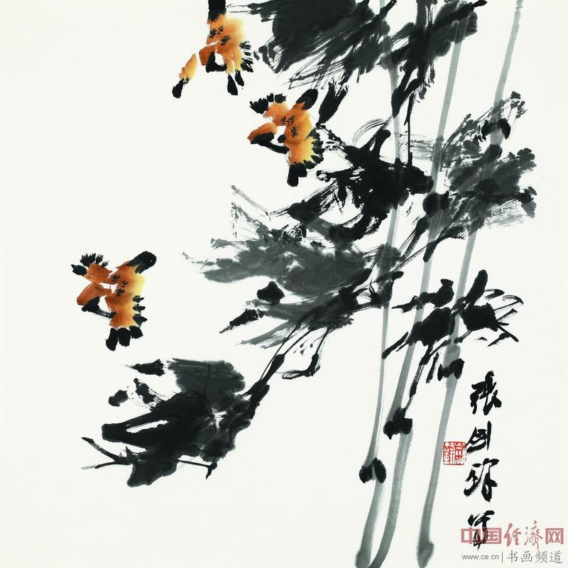 张剑锋《惠风和畅》68cmX68cm  纸本设色  2016年