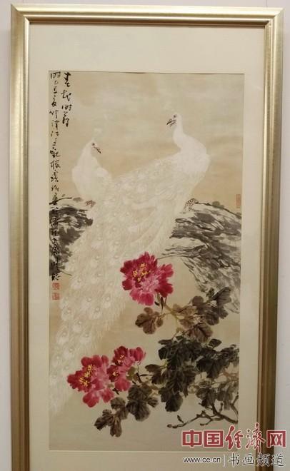 现场展出的贾宝珉国画 中国经济网记者李冬阳摄