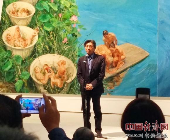 中国美术馆馆长、中央美术学院院长范迪安致辞 中国经济网记者李冬阳摄