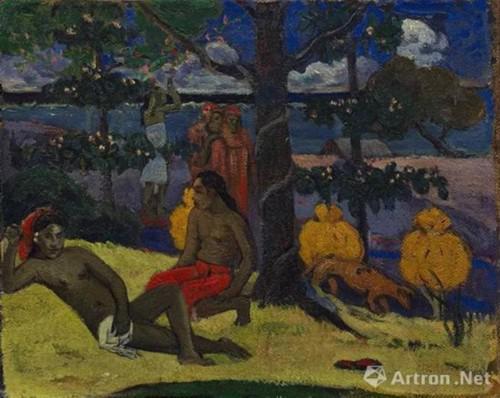 保罗 ・ 高更(Paul Gauguin ) 《王后―女子与芒果(II)》