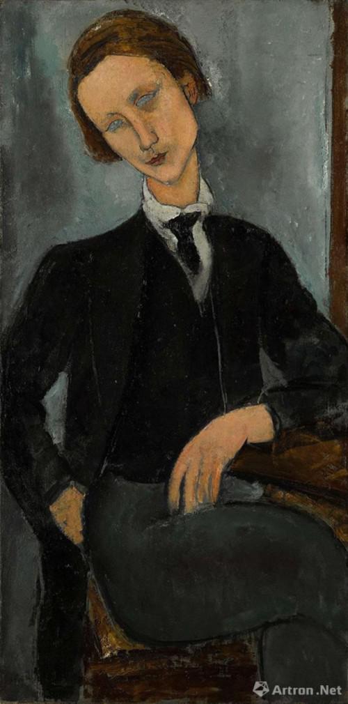 亚美迪欧 ・ 莫迪里安尼(Amedeo Modigliani ) 《巴拉诺夫斯基肖像》