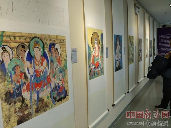 李政恩绘画 中国经济网记者李冬阳摄