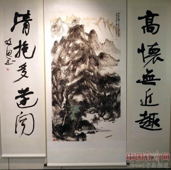 李政恩书画 中国经济网记者李冬阳摄
