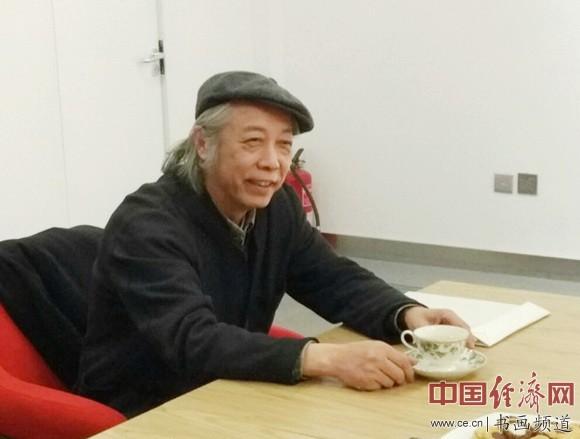 中国美术馆副馆长胡伟在研讨会上致辞