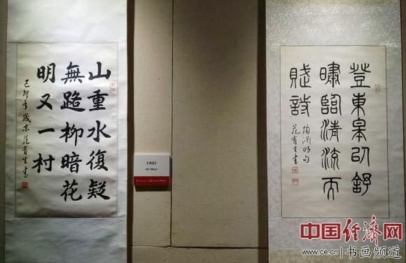 范有生书法 中国经济网记者李冬阳摄