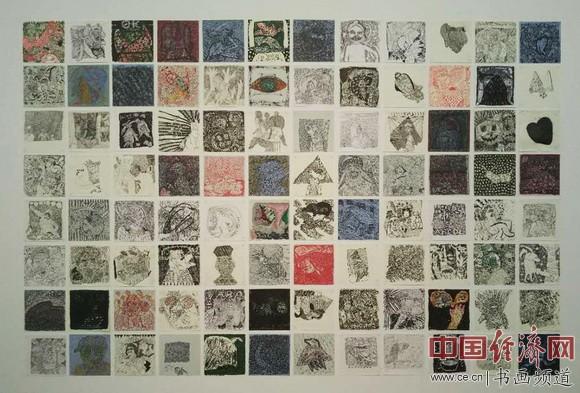 黄璜作品《雀斑 》(Freckle)纸面综合材料 中国经济网记者李冬阳摄