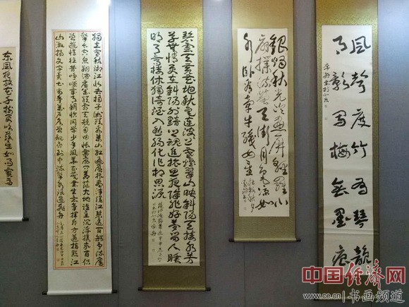 李舟书法 中国经济网记者李冬阳摄
