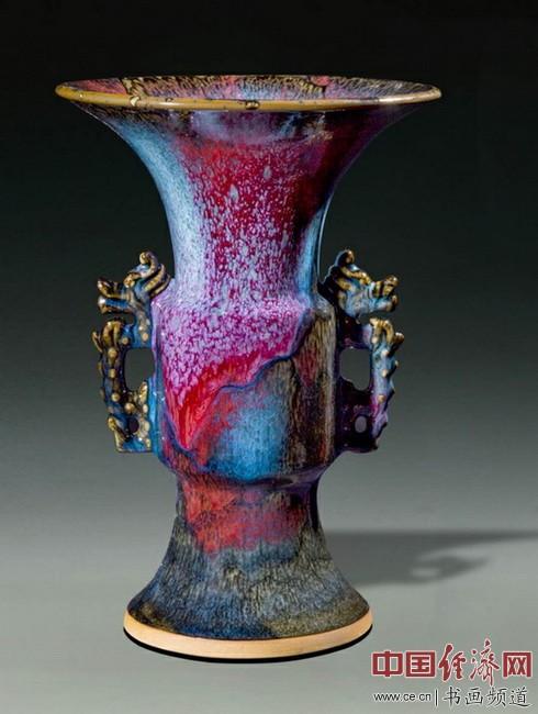 金丰钧艺坊钧瓷作品,使钧瓷在窑变万彩方面更丰富更精彩