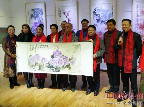 """""""盛世华彩""""迎新年画家夏阳光书画艺术展在京举行"""
