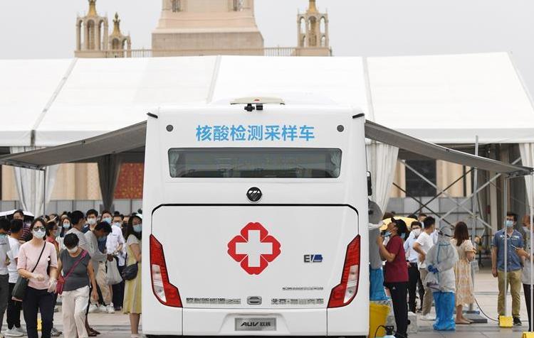 北京市首次投放移动核酸采样车