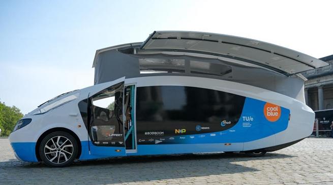 太阳能房车亮相比利时布鲁塞尔