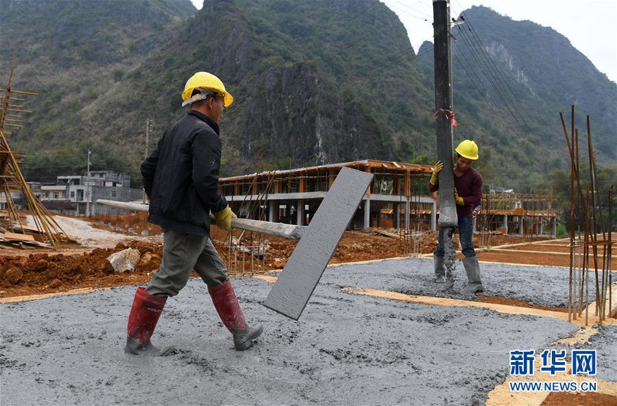 (社会)(1)广西都安易地扶贫搬迁安置新区建设忙