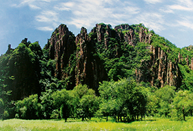 黑龙山石林