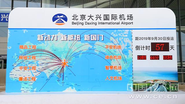 图为北京大兴国际机场倒计时牌。 经济日报-中国经济网记者刘阳丹凤/摄